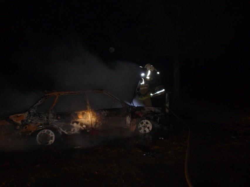 ВЧернском районе ночью сгорел автомобиль