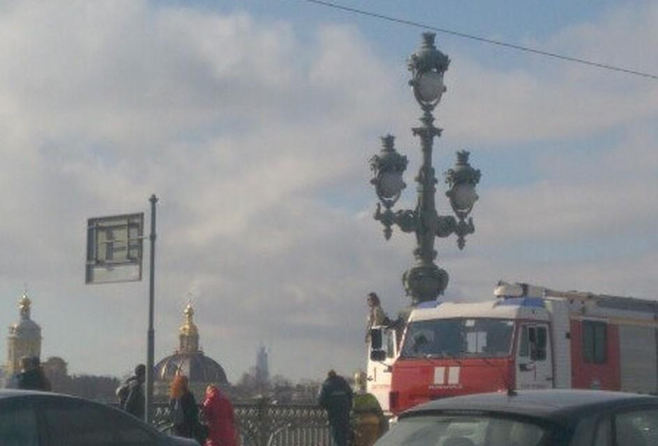 Местные службы отговорили девушку прыгать вНеву сТроицкого моста