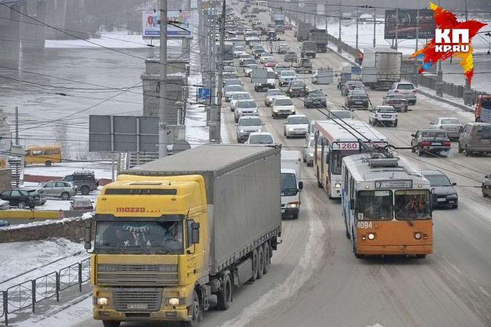 ВНовосибирске вводится ограничение движения большегрузов намесяц