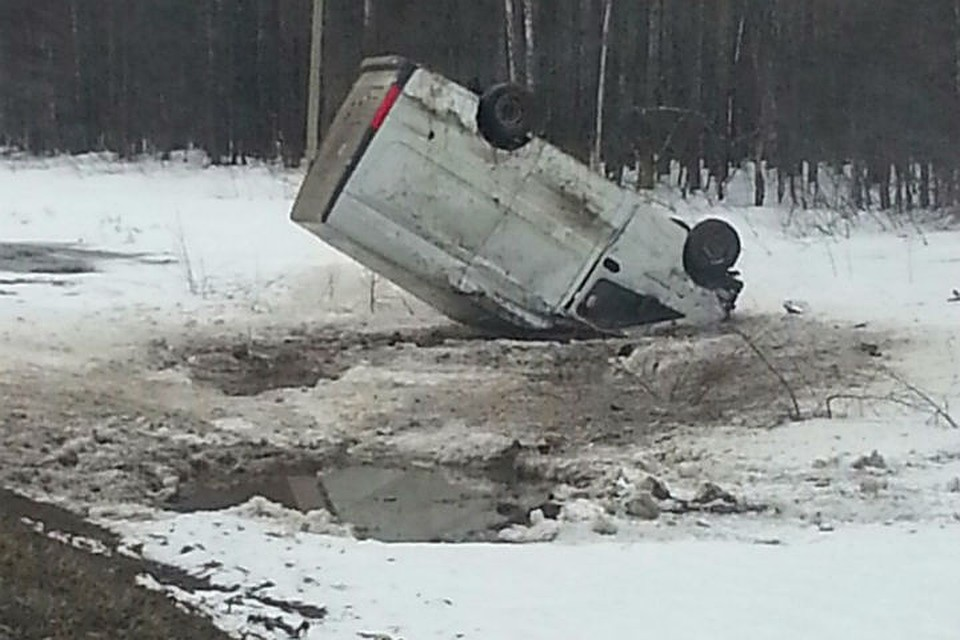 ВБашкирии нетрезвый шофёр на«Газели» опрокинулся вкювет