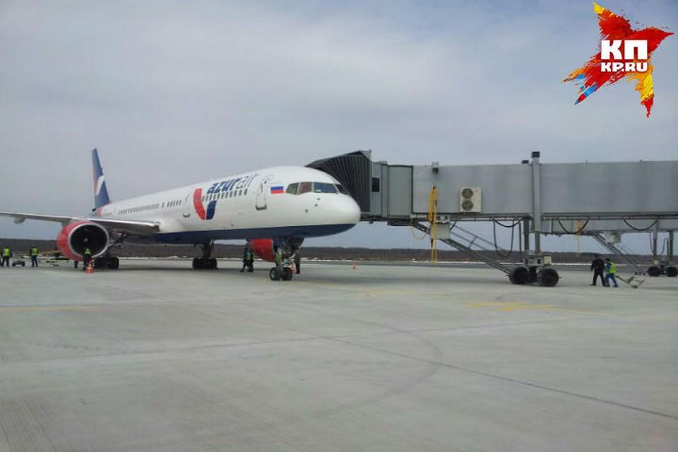 Прибытие первого интернационального рейса вновый терминал нижегородского аэропорта «Стригино»