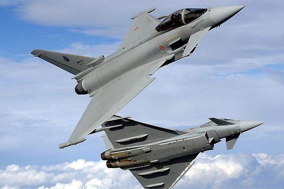 Ввоздушном пространстве стран Балтии— военно-воздушные учения НАТО