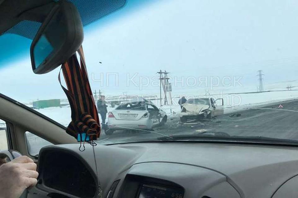 Натрассе под Норильском вДТП умер пассажир китайской легковушки