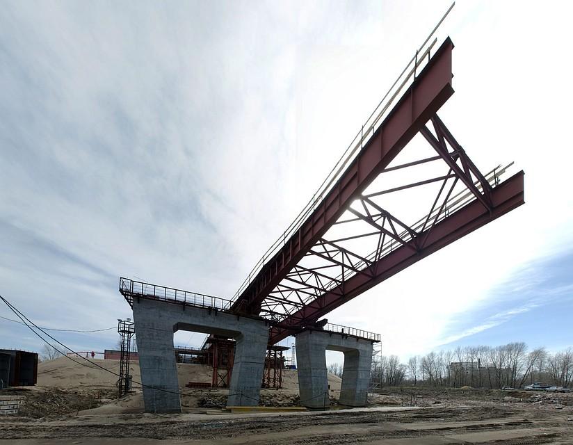 Строители приступили кнадвижке пролетного строения Фрунзенского моста вСамаре