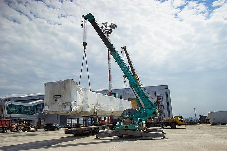 Ваэропорту «Платов» установили девять телескопических трапов