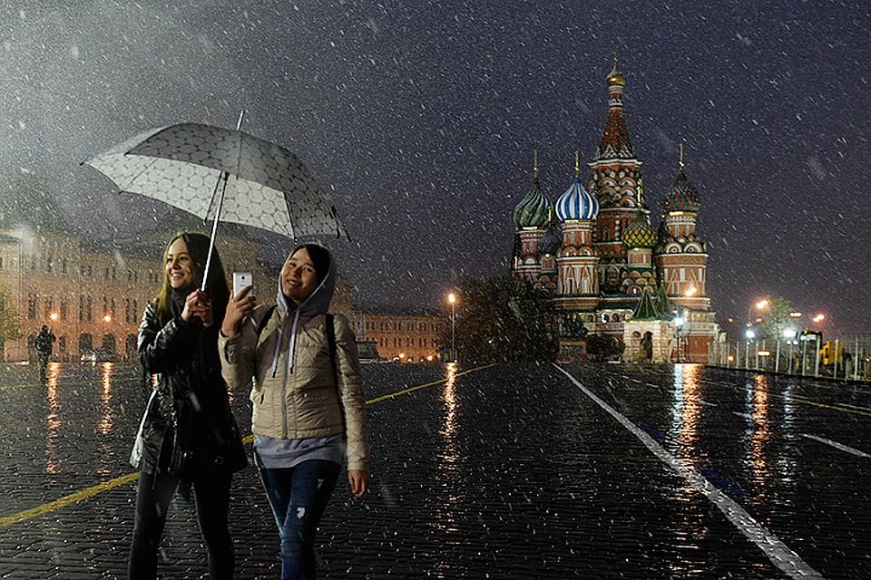 В столице России снова пошел необыкновенный для мая снег