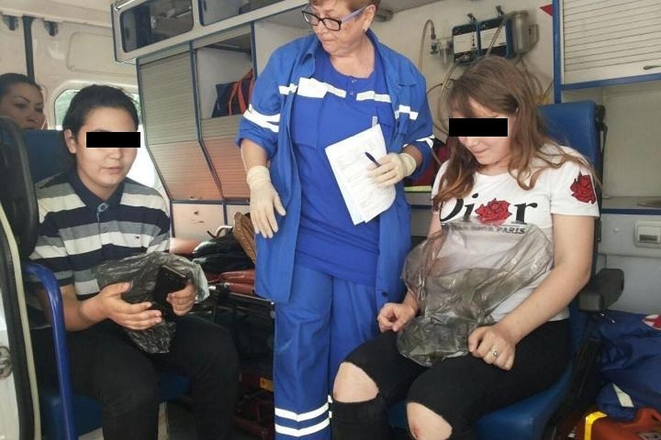 Пострадавших подруг доставили в больницу для медицинского обследования