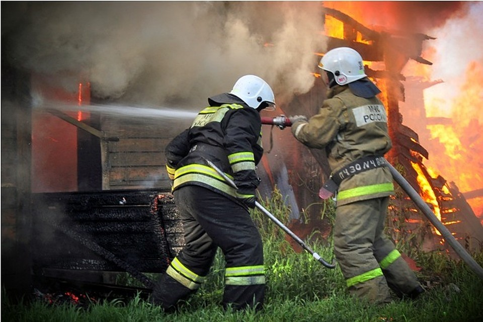 Всгоревшей бане найдено  мужское тело