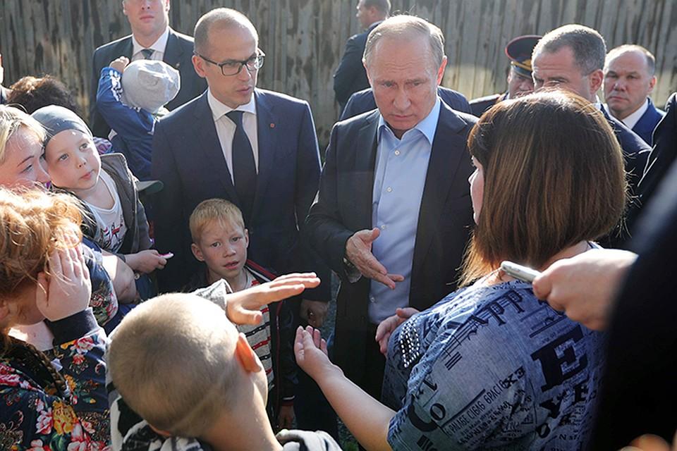 Путин подарил путевку вСочи жительнице барака изИжевска