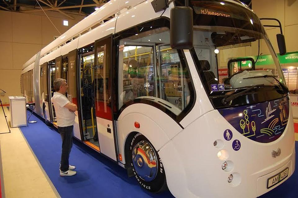Такие электробусы компании'Белкоммунаш уже ездят по улицам Минска а один из них в качестве эксперимента курсирует и по 40-му маршруту в Мо
