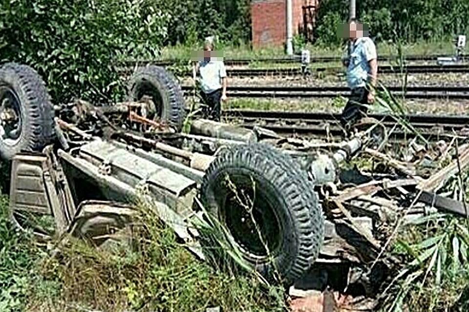 ВСеверском районе поезд столкнулся слегковым автомобилем