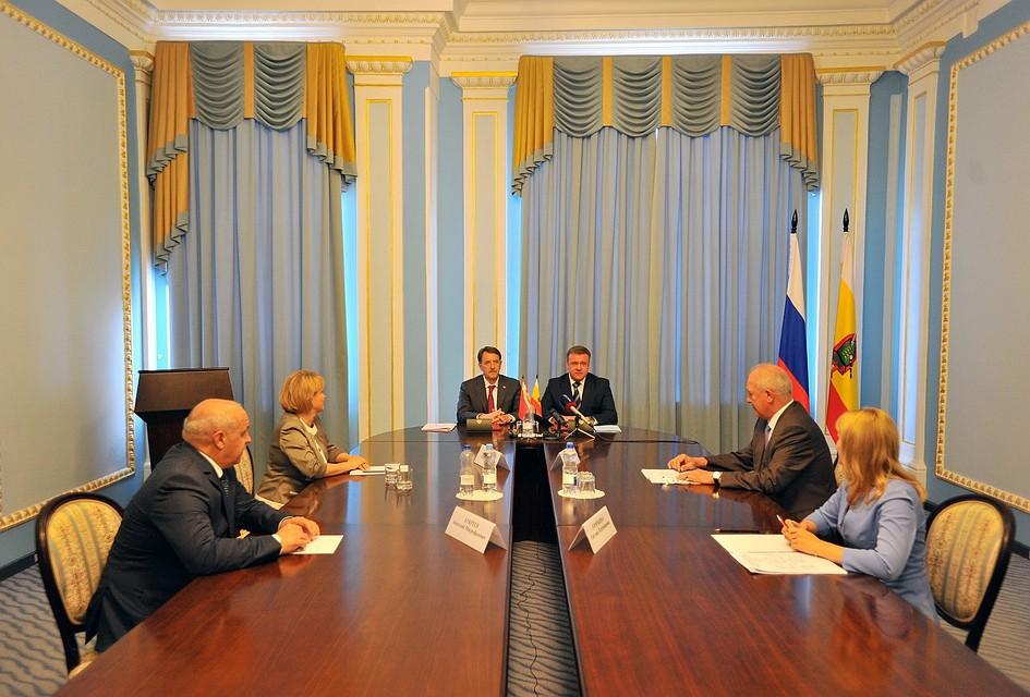 Воронежская область подписала сРязанской соглашение овзаимном сотрудничестве