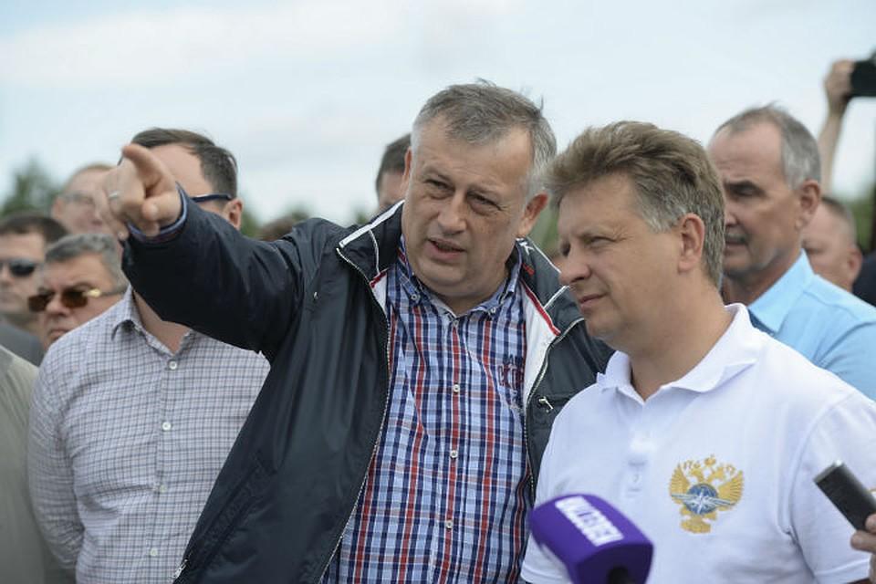 Министр транспортаРФ дал старт реконструкции дороги А-121 вЛенобласти