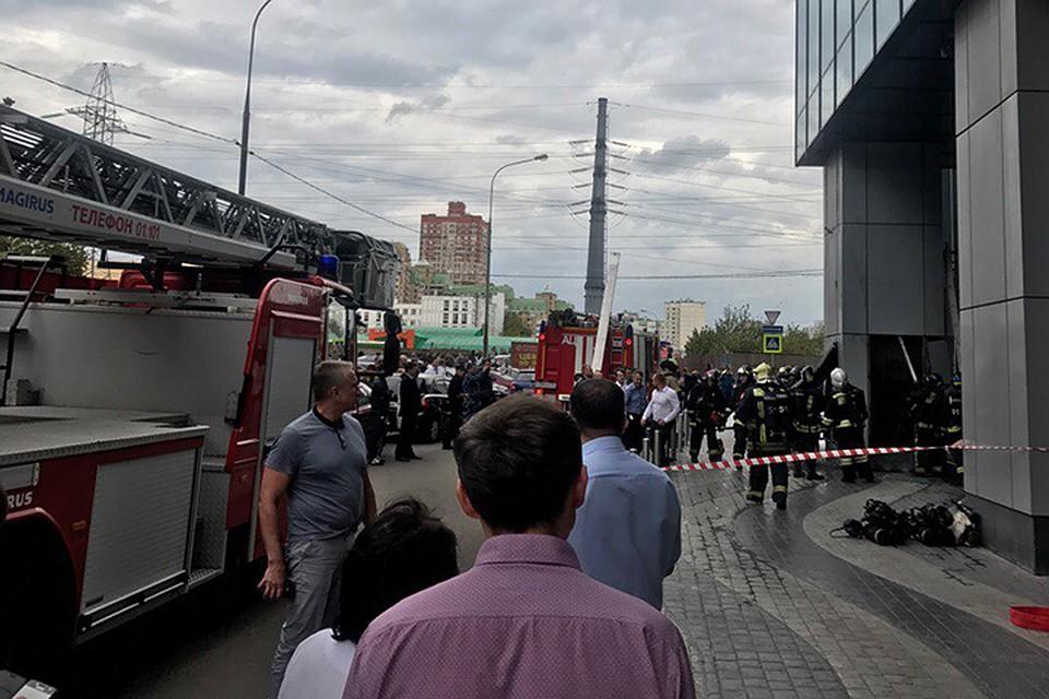 В столице России устранили пожар в коммерческом центре «Водный»