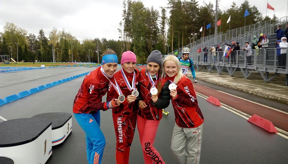 Три медали завоевали биатлонистки изУдмуртии наЧемпионате Российской Федерации вЧайковском