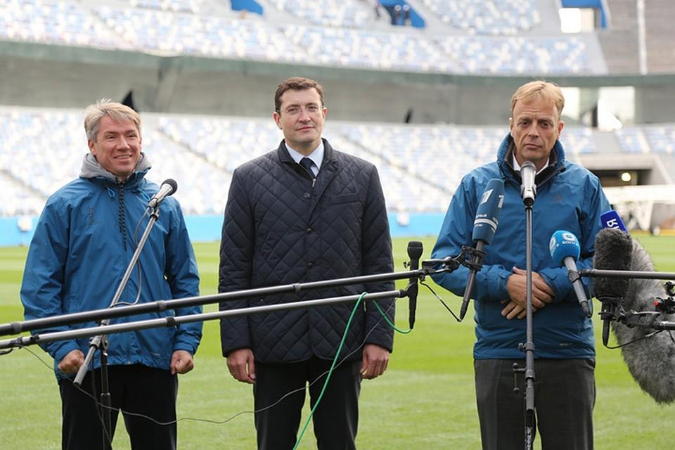 Делегация ФИФА проверила ход подготовки стадиона «Нижний Новгород»