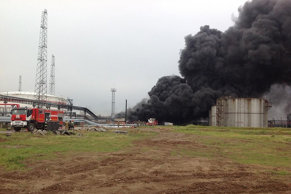 Открытое горение наНПЗ вНижегородской области устранено