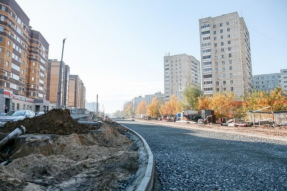 ВКазани заканчивается ремонт дороги наулице Баруди