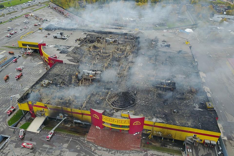 Специалисты назвали основную версию пожара вТЦ «Синдика