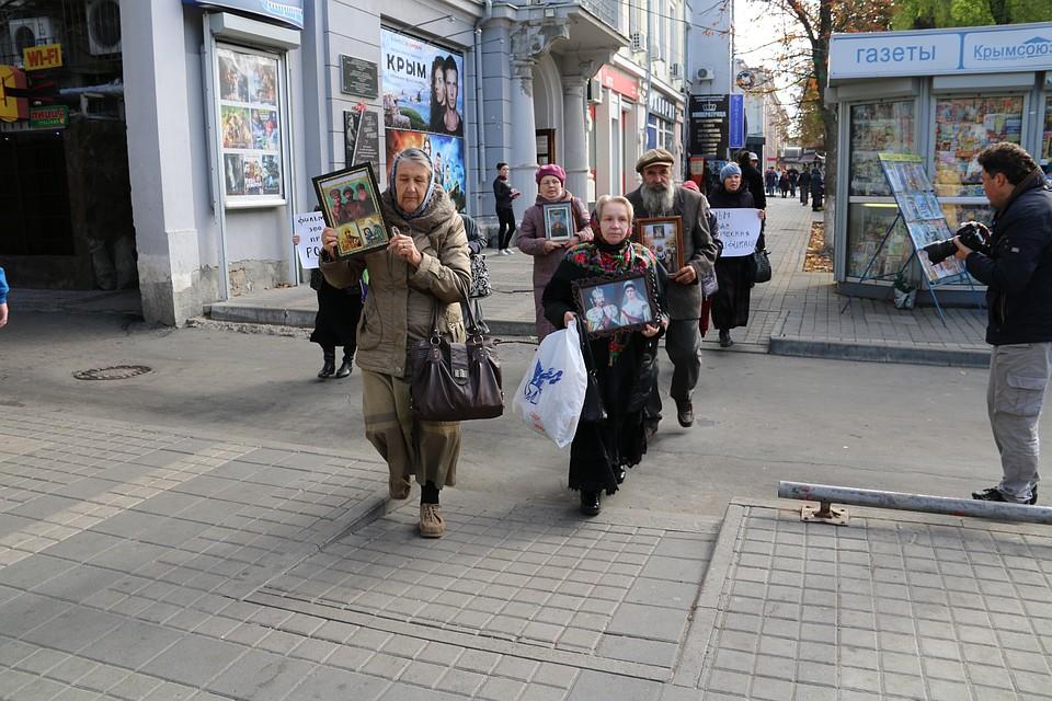 ВСимферополе противники «Матильды» устроили акцию протеста