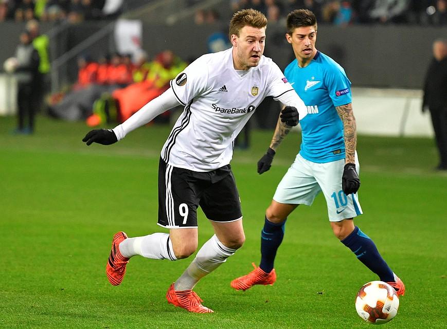 «Зенит» вышел вплей-офф Лиги Европы после матча с«Русенборгом»