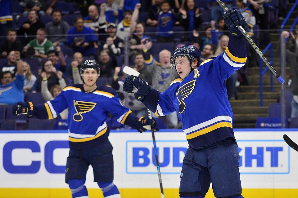 Три очка Тарасенко помогли «Сент-Луису» одолеть «Нью-Джерси» вматче НХЛ