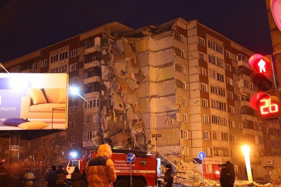 Число жертв при обрушении жилого дома вИжевске возросло до 5-ти