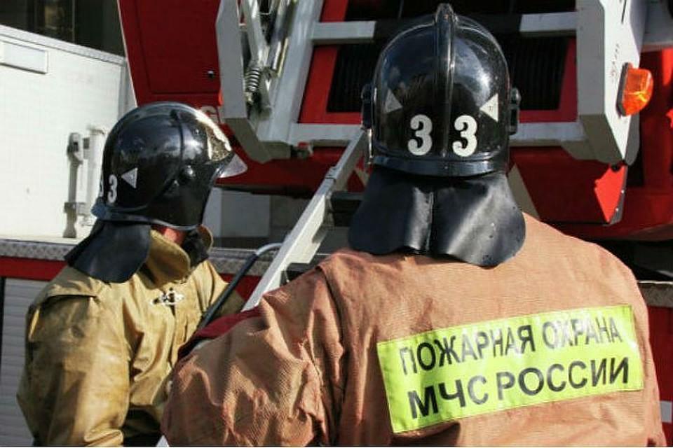 Девять человек тушили загоревшийся автобус ЛиАЗ вПетербурге