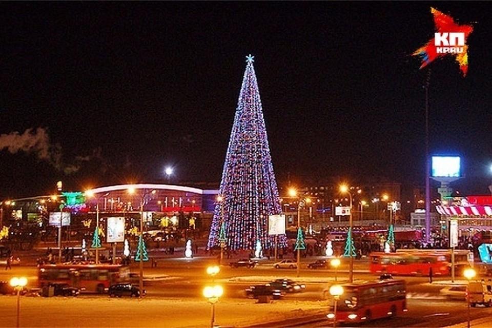 Главную новогоднюю елку Казани вышиной 20 метров установят наплощади Тысячелетия