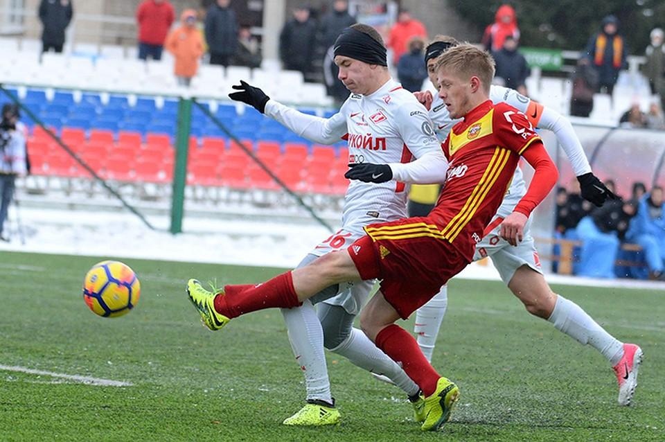 «Арсенал» и«Спартак» сыграли вничью вматче молодежного первенства России пофутболу