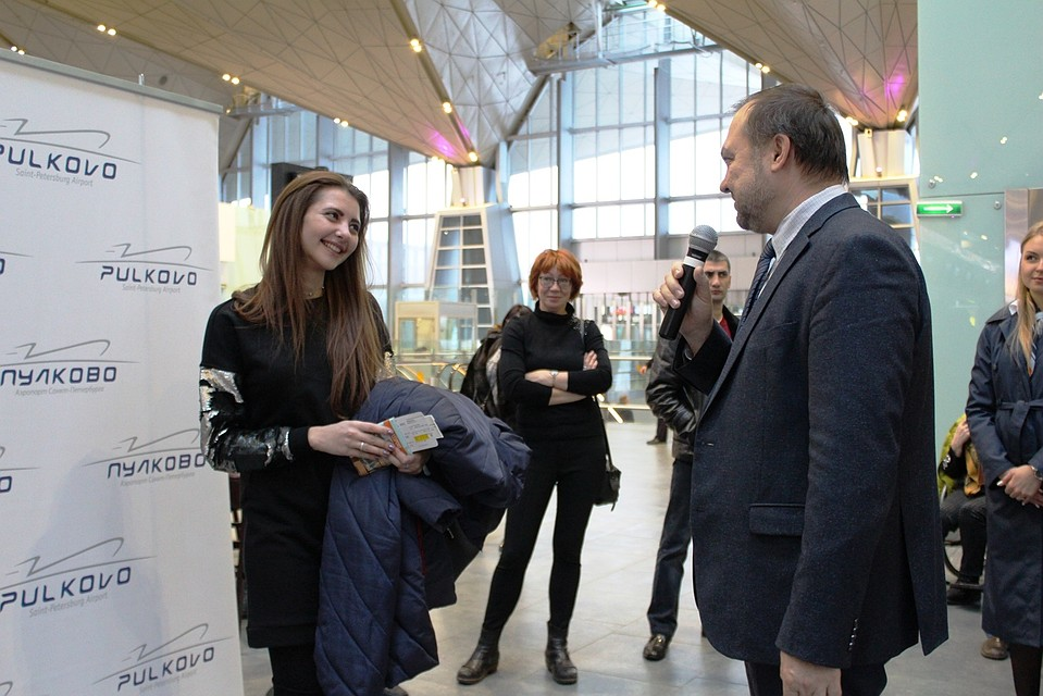 Аэропорт «Пулково» обслужил 15-миллионного пассажира в 2017г