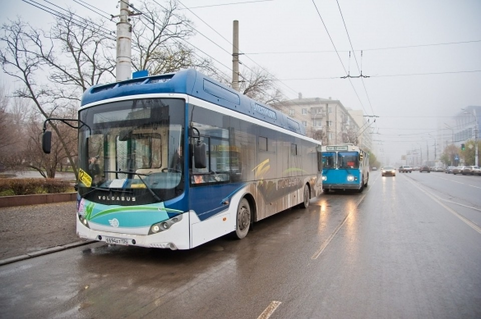 Электробус вышел намаршрут троллейбуса №10 вВолгограде
