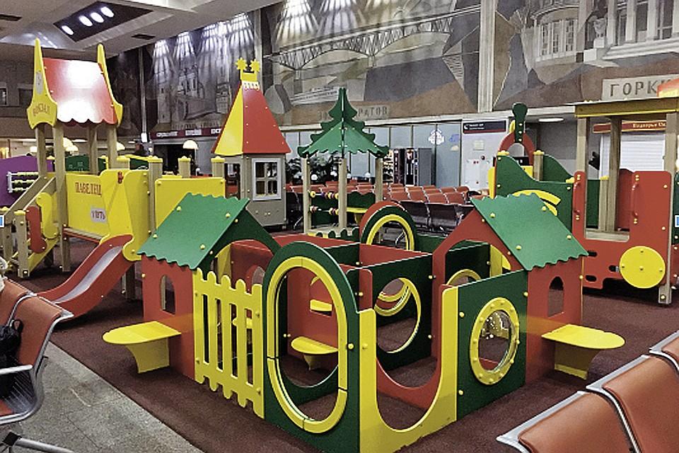 «РЖД» открывает детские игровые площадки на столичных вокзалах