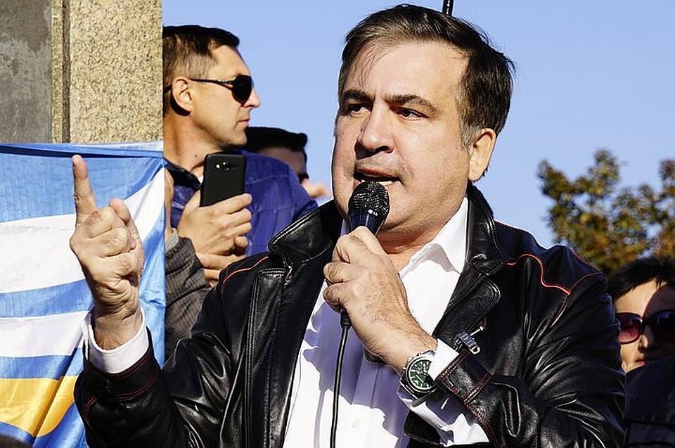 ВКиеве сторонники Саакашвили попытались пробиться взал суда