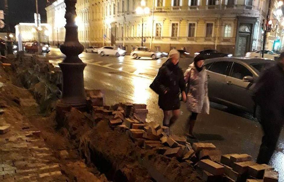 «Ленэнерго» оштрафовали на750 тыс. руб. зараскопки наНевском
