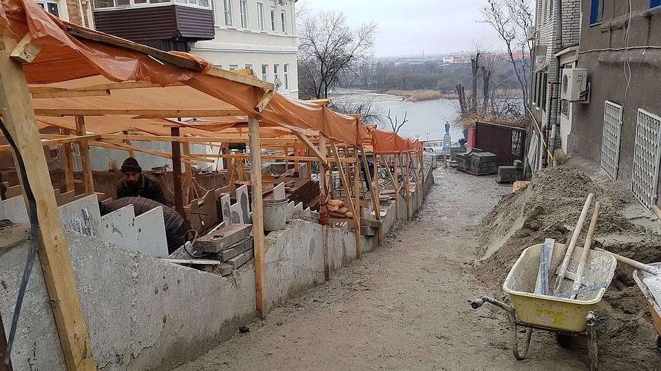 Ремонтные работы наКазанской лестнице ускорят вРостове