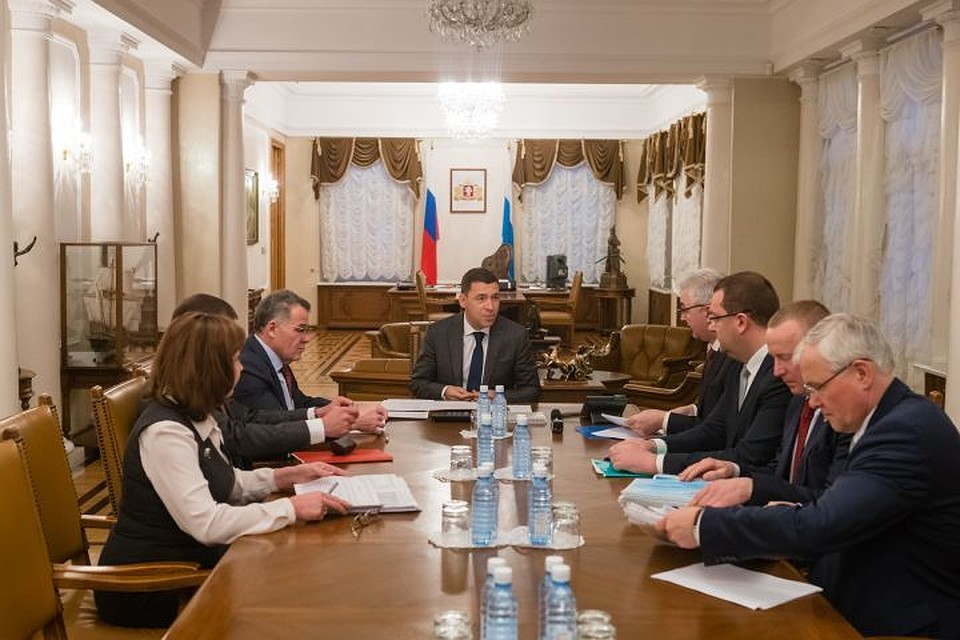 Евгений Куйвашев иАлександр Якоб обсудили развитие Екатеринбурга в этом году
