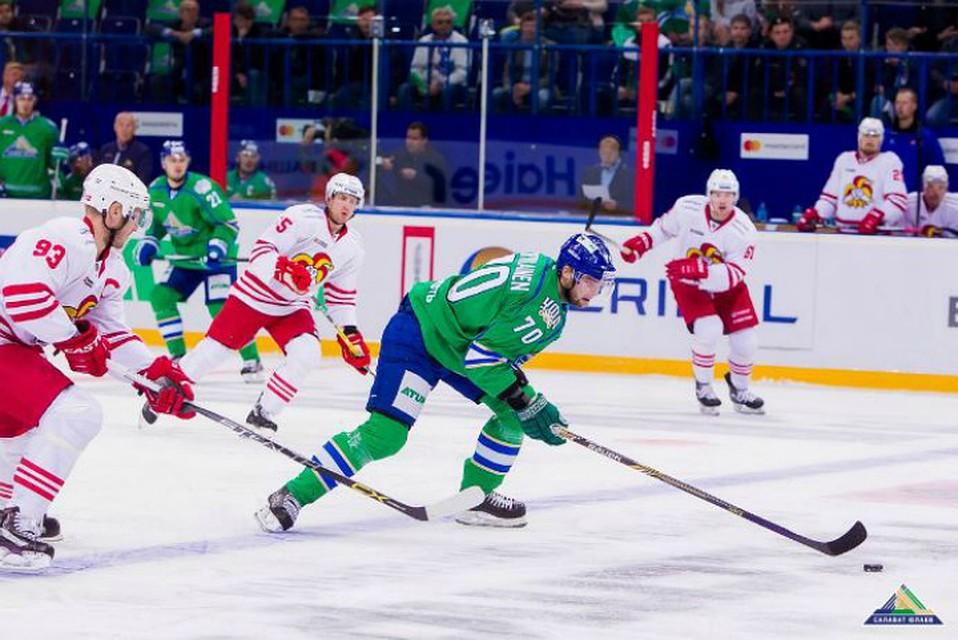 Уфимский Салават Юлаев проиграл в заключительном матче перед паузой наОлимпиаду