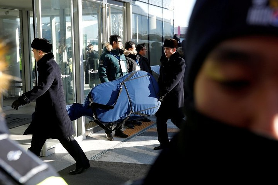 Делегация изКНДР прибыла наОлимпиаду вЮжную Корею