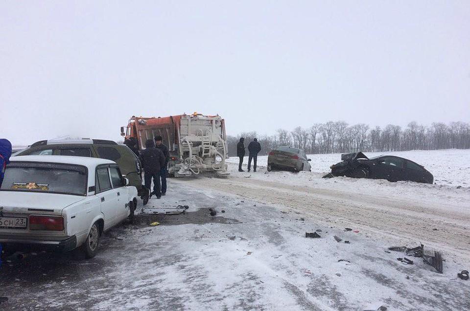 ВДТП сКамАЗом натрассе «Ростов-Ставрополь» пострадала женщина