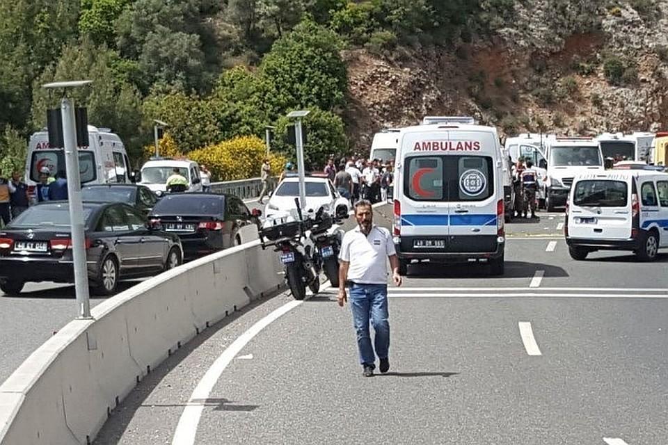 ВТурции при ДТП зажегся  рейсовый автобус: 10 погибших, 18 раненых