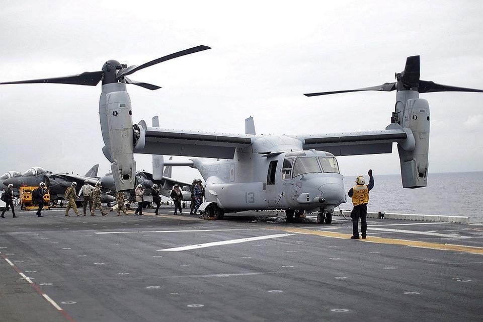 США перебросят 5 конвертопланов врайон Токио