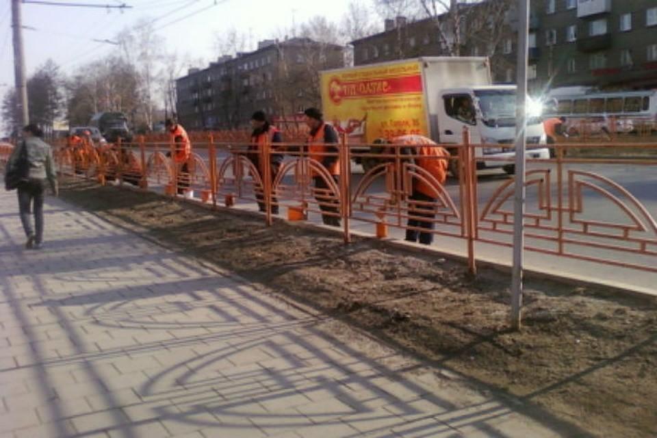 43 тысячи метров уличных ограждений привели впорядок вИркутске