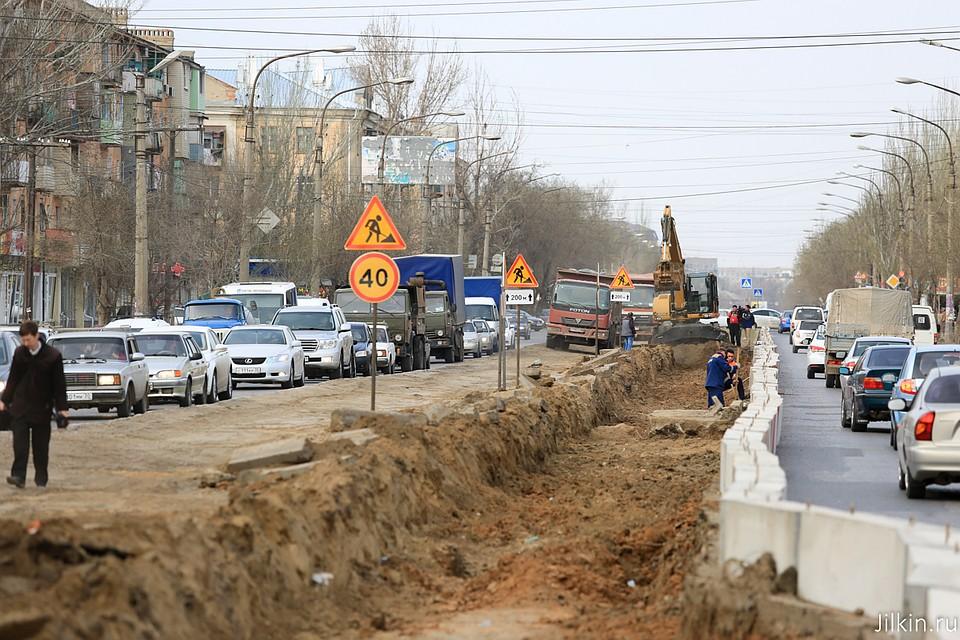 ВАстрахани приступили кдорожным работам наулице Яблочкова