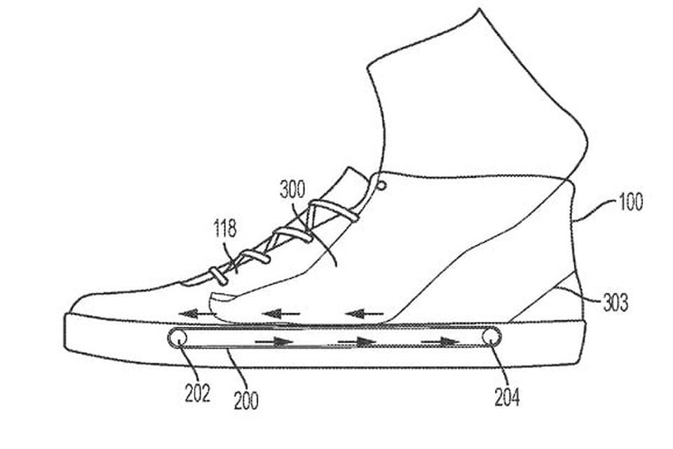 Схема работы уникальных кроссовок