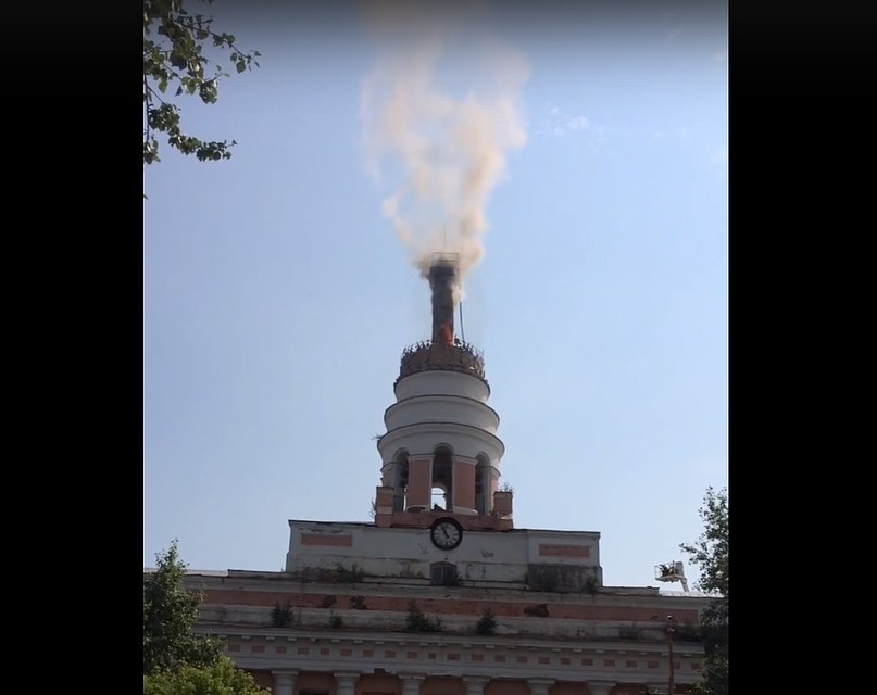 Пожар лишил Ижевск символа 03июля в19:42