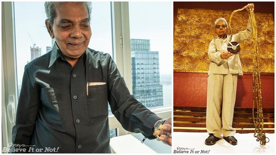 Индиец обрезал самые длиннющие ногти вмире