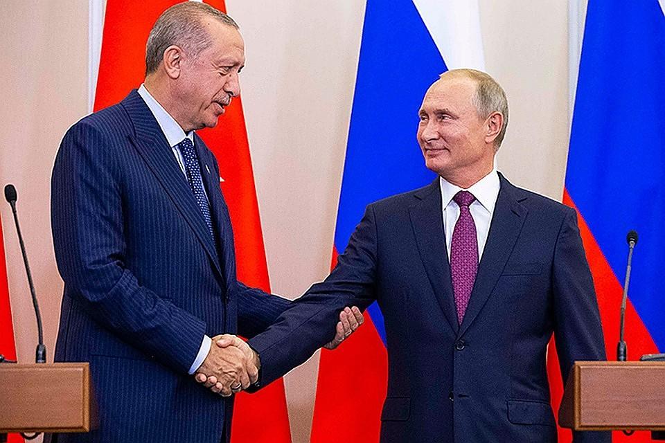 Наполях четырехстороннего саммита поСирии состоится встреча Владимира Путина иЭрдогана