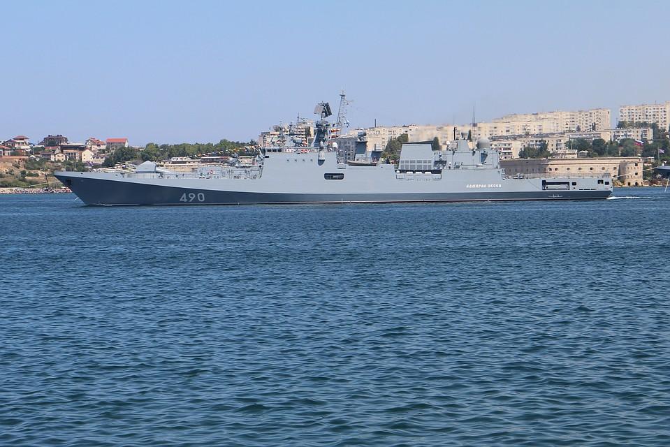 ФрегатыЧФ провели вертолётные учения вСредиземном море