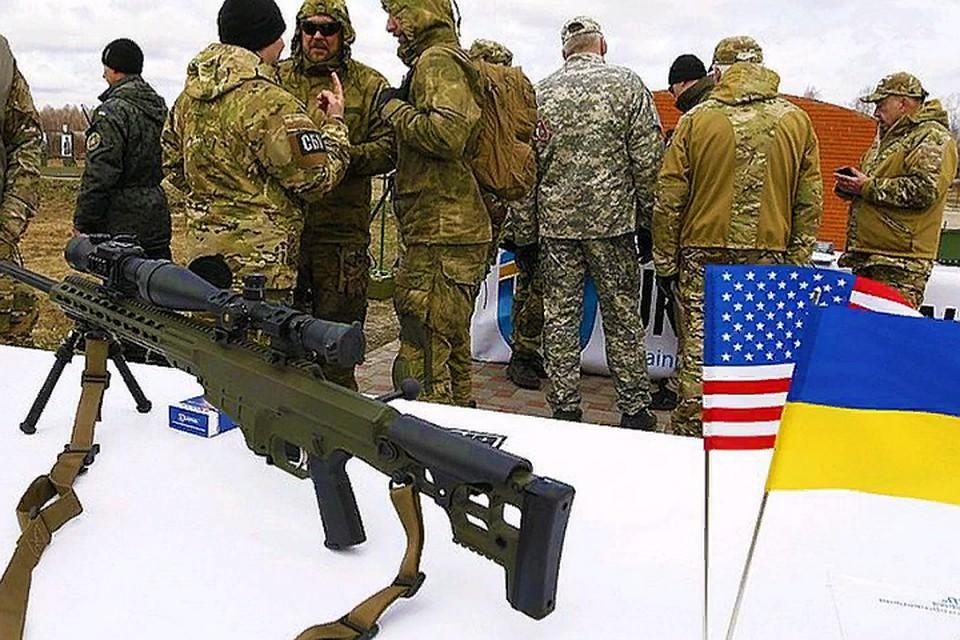 Налинии разграничения Украины сЛНР вывесили флаги США